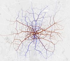 BMTC Bangalore: North - South and East - West routes are equally distributed. North South, Interactive Map, Map Design, Urban Life, Urban Planning, Old Things, Urban Design, Maps, Cartography