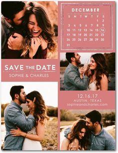 Ornate Calendar - Save the Date Postcards - Magnolia Press - Black : Front