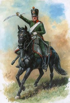 Jäger of the 12th regiment of Chasseurs, German Army, 1809