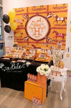 aBite's Housewarming / Hermes - Photo Gallery at Catch My Party Tea Party Theme, Party Themes, Party Ideas, Hermes Box, Hermes Paris, Hermes Orange, Derby Party, Housewarming Party, Orange Crush