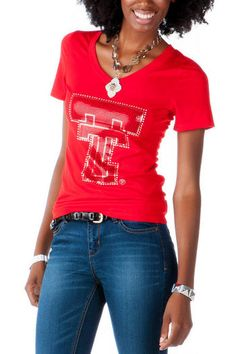 Texas Tech University Embellished Tee  http://www.francescas.com/product/texas+tech+university+embellished+tee.do?sortby=ourPicks