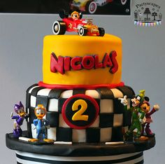 Mickey and the Roadster Racers Birthday Cake by BakedLove.net for Partyscapes