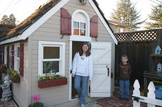 This is kind of how I envision the shed conversion to look if I make one a playhouse for the kids.