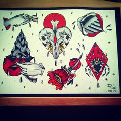 Flash tattoo by doblado