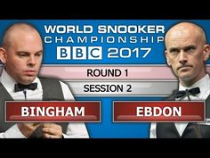 Stuart Bingham v Peter Ebdon ᴴᴰ World Snooker Championship 2017 Session 2 - YouTube