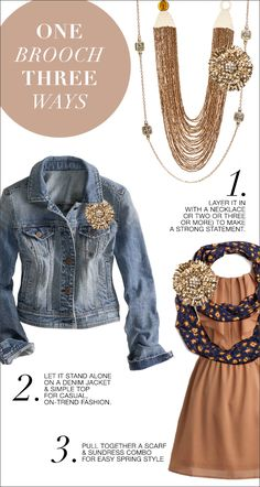 Glam Up Your Wardrobe With Accessories - One Brooch, Three Ways http://toyastales.blogspot.com