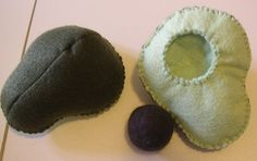 Felt Food-Sam McLean. Avocado with wet felted pit   Flickr - Photo Sharing!