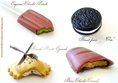 Oreo cookie, ice cream, chocolate tutorial Fimo.