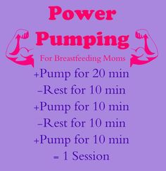 Basic power pumping outline for Breastfeeding moms #mypumpingspace