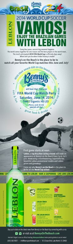Come check out Benny's on the Beach for our first official watch party this Saturday, June 14th starting at noon! #BennysontheBeach #Lakeworthpier #WorldCup2014 #FIFA #WestPalmBeach #Soccer #Futbol #ESPNFC #ESPN #AmericanOutlaws
