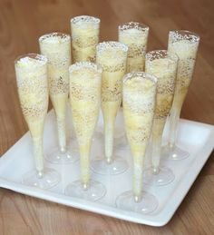 Champagne Cupcake flutes.  Cute idea for a party!