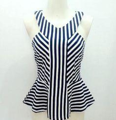 Peplum, Women, Fashion, Vestidos, Short Hairstyles, Black And White, Patterns, Dressmaking, Moda