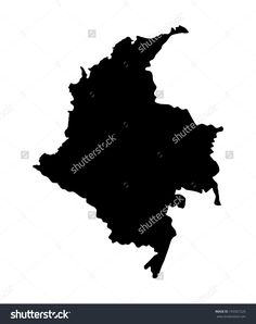Republic Of Colombia Vector Map Isolated On White Background. High Detailed…