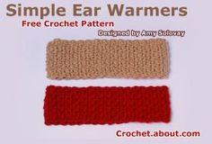 Crochet Some Cool Ear Warmers with These Free Hat and Headband Patterns: Simple Crochet Ear Warmer Pattern
