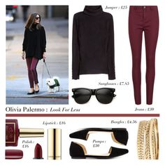 """""""Look for Less : Olivia Palermo A/W15 Denim"""" by rachaelselina ❤ liked on Polyvore featuring Rich & Skinny, H&M, BP., Ciaté and Penny Loves Kenny"""