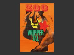 Vintage poster Wuppertal zoo for dad