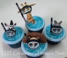 Madagascar ⚜ themed cupcakes