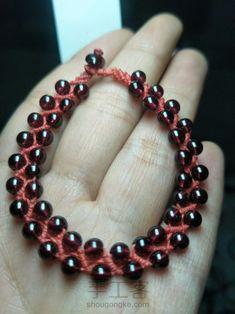 红绳之珠链♛原创 第7步 Bracelets, Leather, Jewelry, Rings, Necklaces, Beads, Jewlery, Bijoux, Schmuck