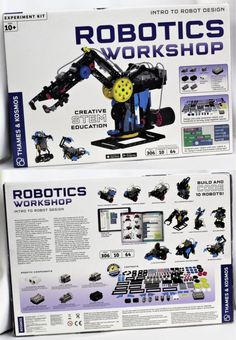 BRAND Thames & Kosmos Robotics Workshop Kit 620377 for sale online Mechanical Engineering Projects, Robotics Projects, Pi Projects, Electronic Engineering, Robot Programming, Learn Programming, Electronics Mini Projects, Electrical Projects, Robotics Workshop