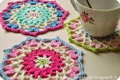 Delicadezas en crochet Gabriela: Posa taza muy fácil ideal para principiantes