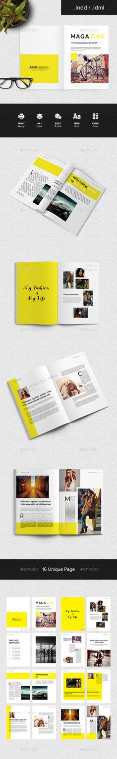 Multi Magazine  — InDesign Template #investment #stock • Download ➝ https://graphicriver.net/item/multi-magazine/18124372?ref=pxcr