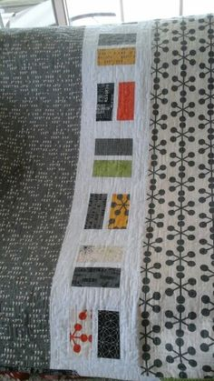 """Back of Zen Chic """"Comma"""" fabric quilt"""