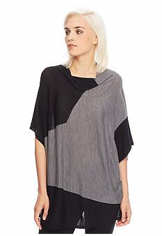 Eileen Fisher Colorblock Merino Wool Poncho - Belk exclusive: was $298, sale $149