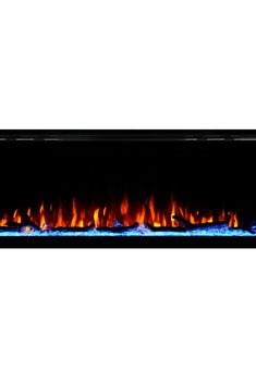 Touchstone 80036 - Sideline Elite Electric Fireplace - 50 Inch Wide - in Wall Recessed - 60 Color Combinations - Watt Heater Thermostat) - Black - Log, Crystals, and Driftwood