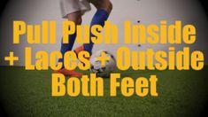 ** Pull Push Laces + Inside + Outside Both Feet - Static Ball Control Drills for U12-U13 **