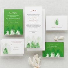 Palm Tree Passion Wedding Invitation | Wedding Invitation | #exclusivelyweddings