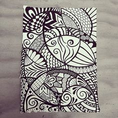 Moving in circles - Indian Rag paper zen doodle using micron fineliners. by Wealie, via Flickr