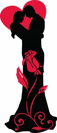 tubes saint valentin - Page 30 Little Black Books, Silhouette Art, Grafik Design, String Art, Wedding Couples, Paper Cutting, Coloring Pages, Silhouettes, Sketches