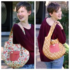 Free Cute Reversible Bag Tutorial | from Julie Comstock at CosmoCricket