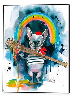 Frenchie by Lora Zombie (Framed Canvas) from Curate a Gallery Wall on Gilt