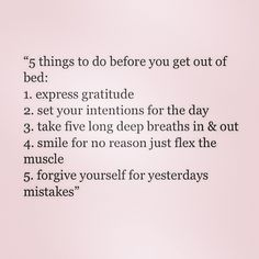 5 things to do before getting out of bed                                                                                                                                                      More