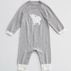 charcoal lamb cashmere blend baby long johns