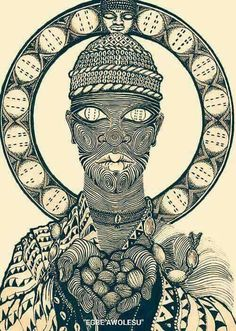 Our next title will be Ifá: A Forest of Mystery by Nicholaj De Mattos Frisvold. A study on the cosmology, metaphysics, divination and philosophy of Ifá. Ifa Religion, Yoruba Religion, African Warrior Tattoos, Yoruba Orishas, Ying Y Yang, African Mythology, Rune Tattoo, African Traditions, Spirited Art