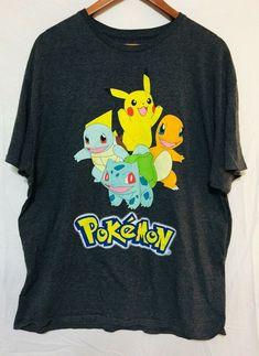 63ddc87ab1 Pokemon T Shirt Mens Size XL Gray Short Sleeve Graphic T Crew Neck Anime  #Pokemon