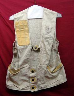 38639d3da41af Details about National Sports Co. Lt. Wt. Shooting Vest w/Leather Padded  Shoulder/Accents, L