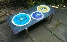 1960s abstract tile top coffee table.vintage retro midcentury