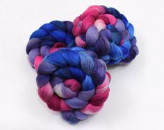 Polwarth Wool Roving  Handpainted Roving for by woolgatherings, $18.00