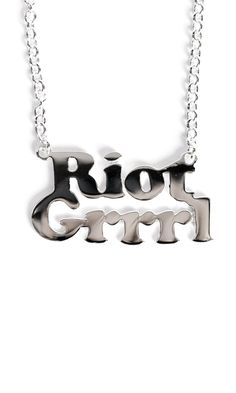 Riot Grrrl Necklace #disturbiaclothing disturbia sterling silver name necklace jewellery grunge alternative