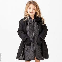 Ermanno Scervino Junior - Coat with a removable lining - 141380