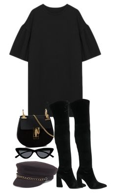 """Untitled #5200"" by theeuropeancloset on Polyvore featuring Stuart Weitzman, Chloé, Le Specs and Treasure & Bond"