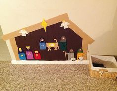 Felt Wall Nativity - I like the idea. Not sure about this exact look.