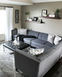 Avery 2 Piece Sectional W / Laf Armless Chaise - Wohnzimmer Dekoration Ideen Living Room Grey, Home Living Room, Apartment Living, Living Room Designs, Living Room Decor, Living Spaces, Minimalist Living, Home Decor Styles, Home Decor Bedroom
