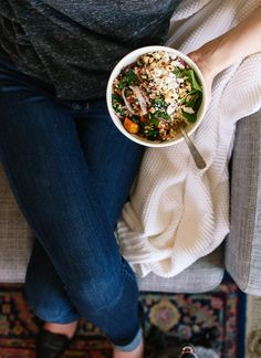Hearty sweet potato farro salad - cookieandkate.com
