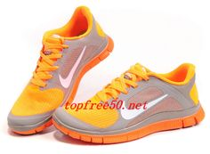 43fb33c4ac8f KF58m1 Sport Grey White Bright Citrus Nike Free 4.0 V3 Women s Running Shoes  Discount Nike Shoes