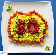 Healthy birthday platter for adults