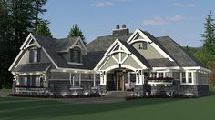 House Plan 42680 | Bungalow Cottage Country Craftsman Tudor Plan with 2465 Sq. Ft., 3 Bedrooms, 3 Bathrooms, 2 Car Garag